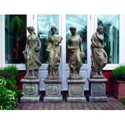 Set of 4 Large Maidens Statues