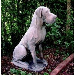 Stone Great Dane Garden Statue - Male.