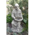 St. Francis Of Assisi Stone Bird Feeder