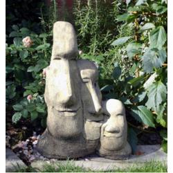 Triple Easter Island heads
