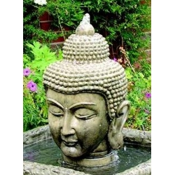 Stone Buddha Head Fountain