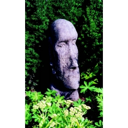 Easter Island Head stone sculpture