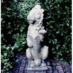 Heraldic Lion Garden Statue
