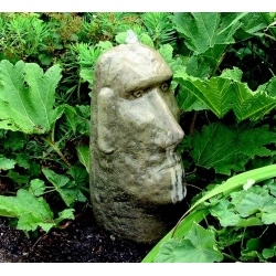 Stone Moai Head Fountain